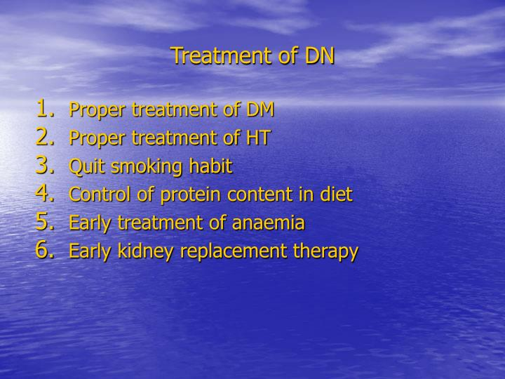 Treatment of DN