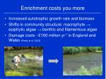 enrichment costs you more