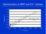 stoichiometry of mrp and fe 2 release