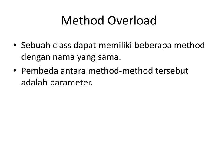 Method Overload