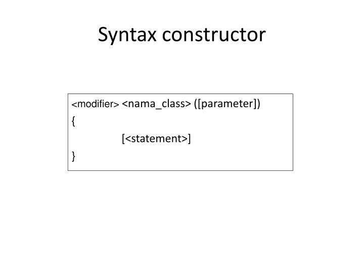 Syntax constructor