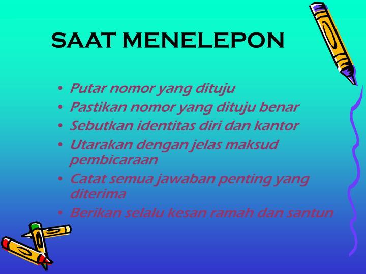 SAAT MENELEPON