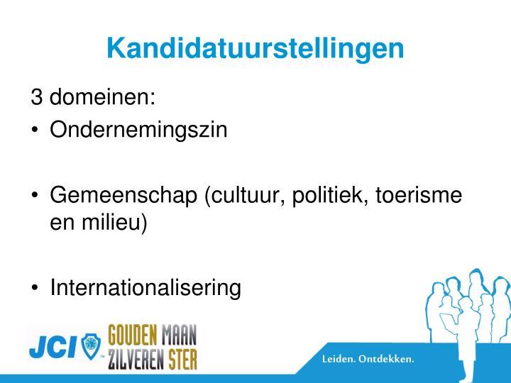 Kandidatuurstellingen