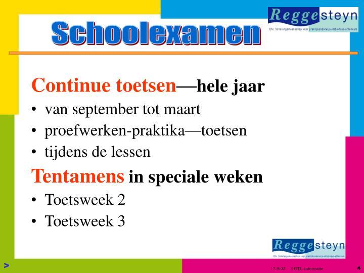 Schoolexamen