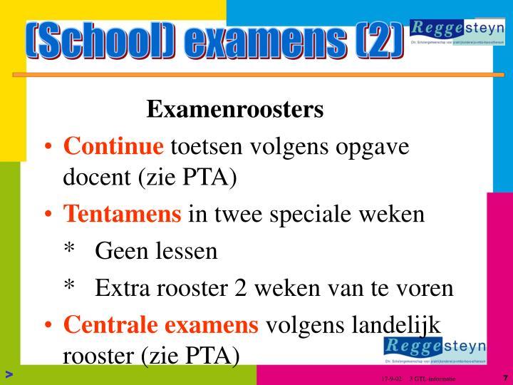 (School) examens (2)