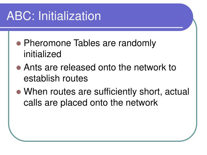 ABC: Initialization