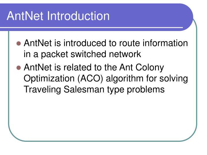 AntNet Introduction