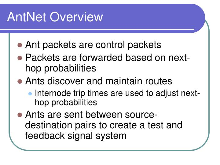AntNet Overview