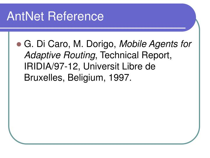 AntNet Reference