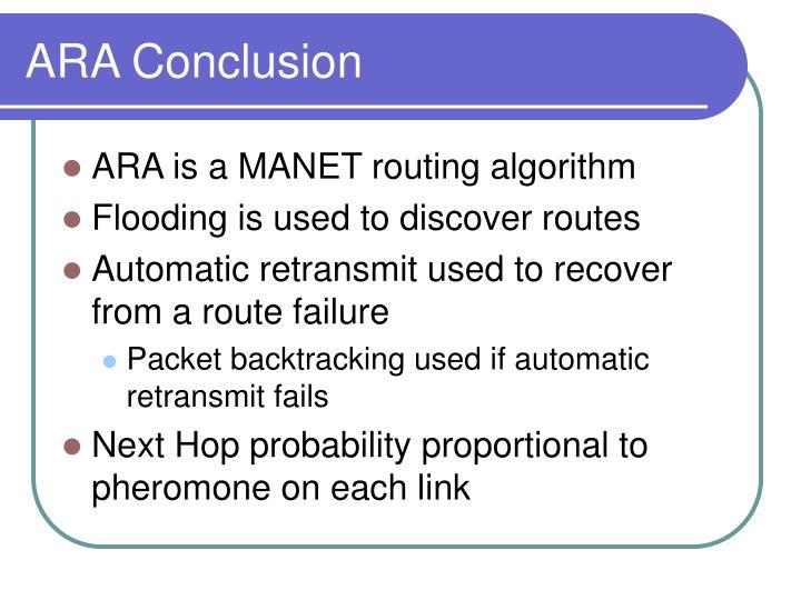 ARA Conclusion