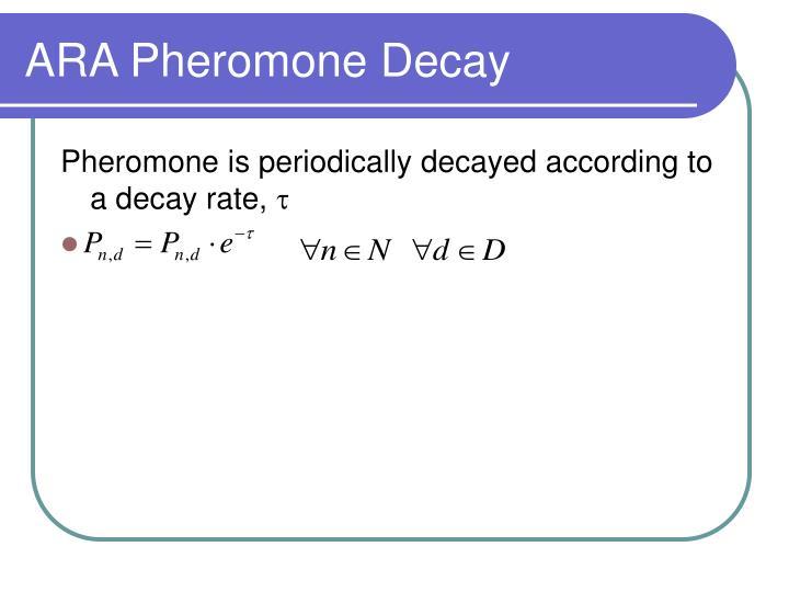 ARA Pheromone Decay