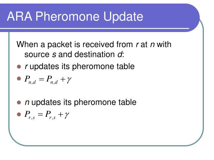 ARA Pheromone Update