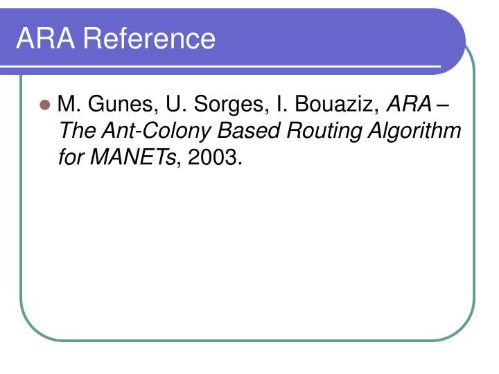 ARA Reference