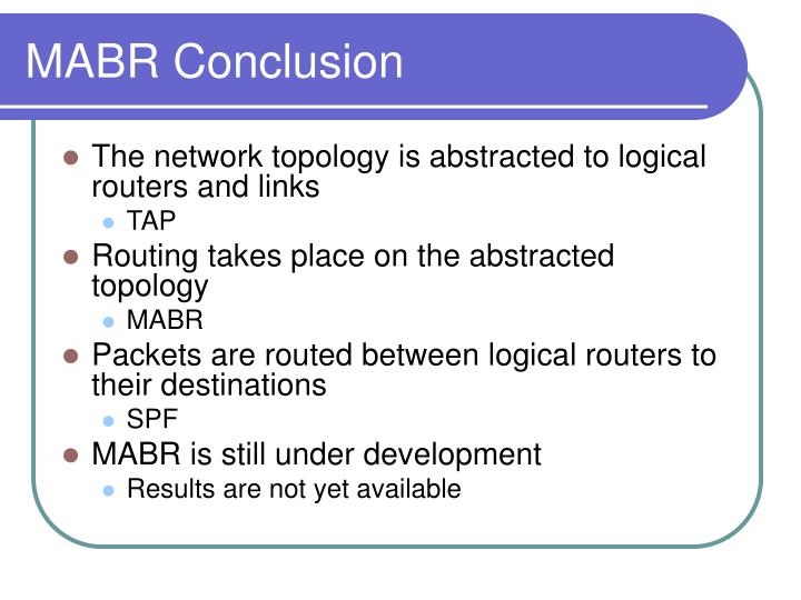 MABR Conclusion
