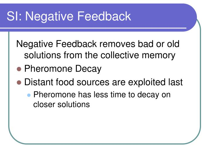 SI: Negative Feedback