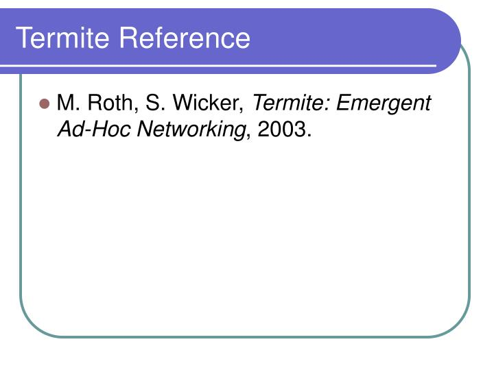 Termite Reference