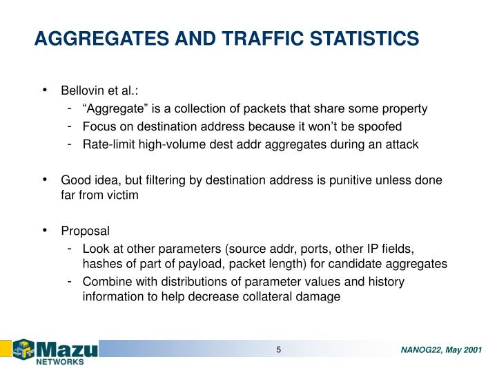 AGGREGATES AND TRAFFIC STATISTICS