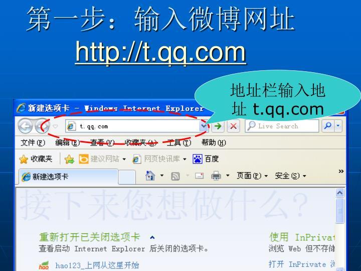 第一步:输入微博网址