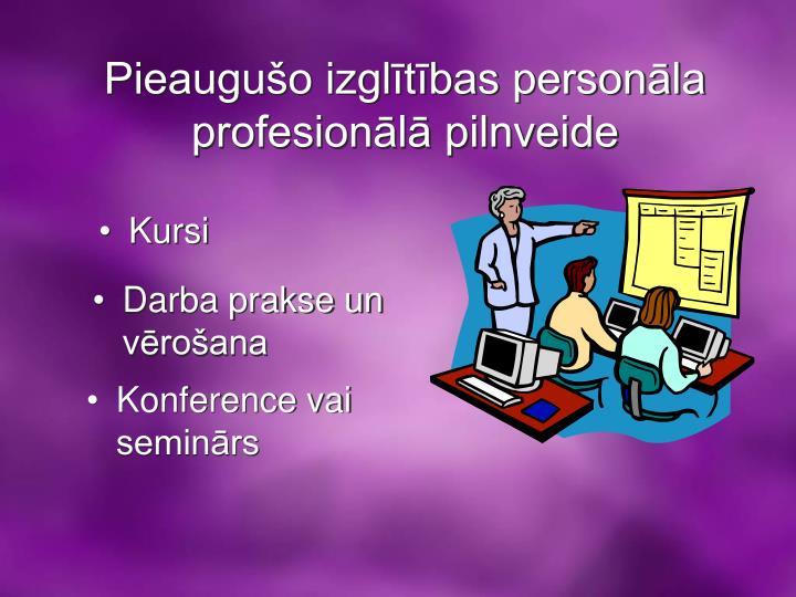 Pieaugušo izglītības personāla profesionālā pilnveide