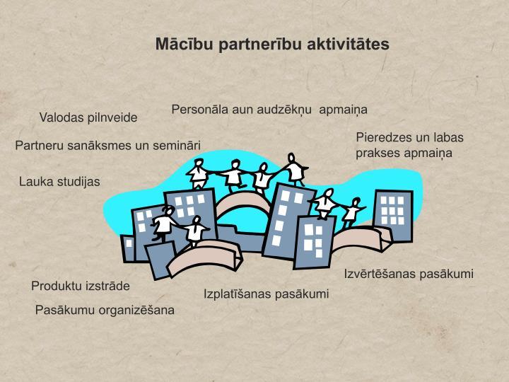Mācību partnerību aktivitātes