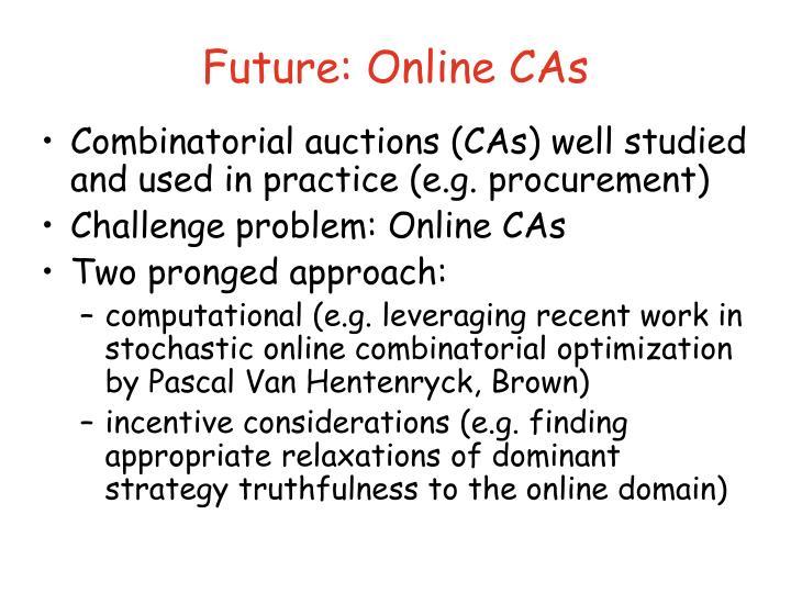 Future: Online CAs