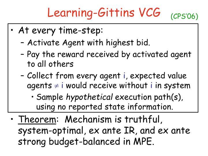 Learning-Gittins VCG