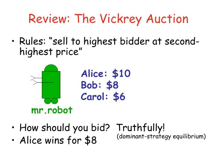 Review: The Vickrey Auction