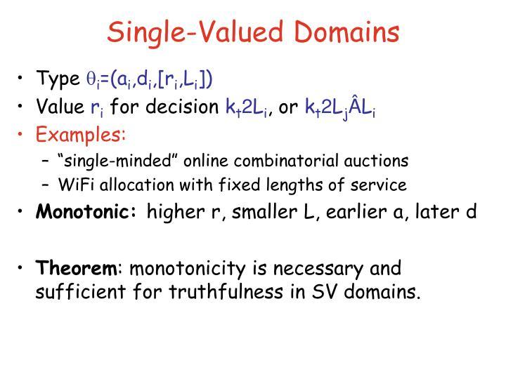 Single-Valued Domains
