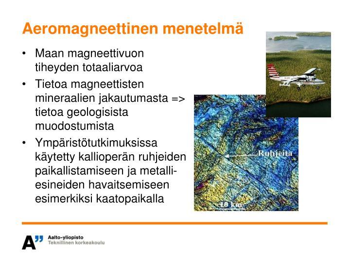 Aeromagneettinen menetelmä