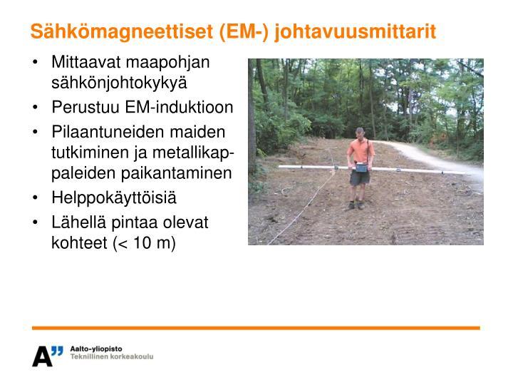 Sähkömagneettiset (EM-) johtavuusmittarit