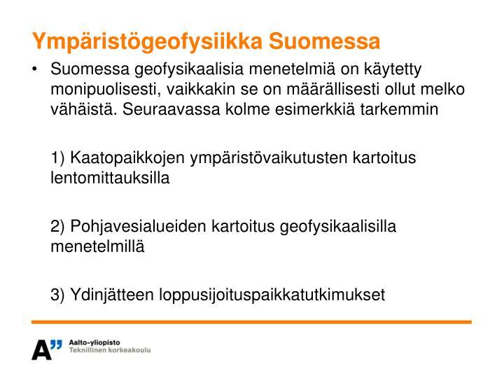 Ympäristögeofysiikka Suomessa