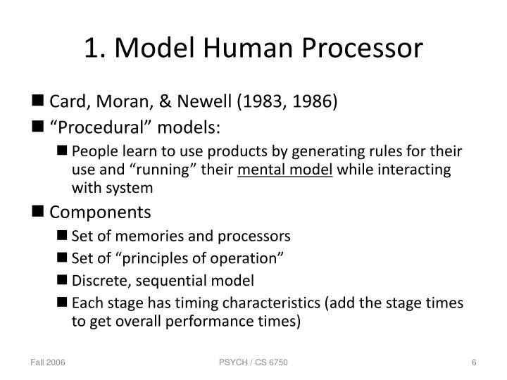 1. Model Human Processor