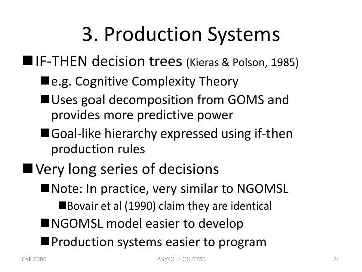 3. Production Systems