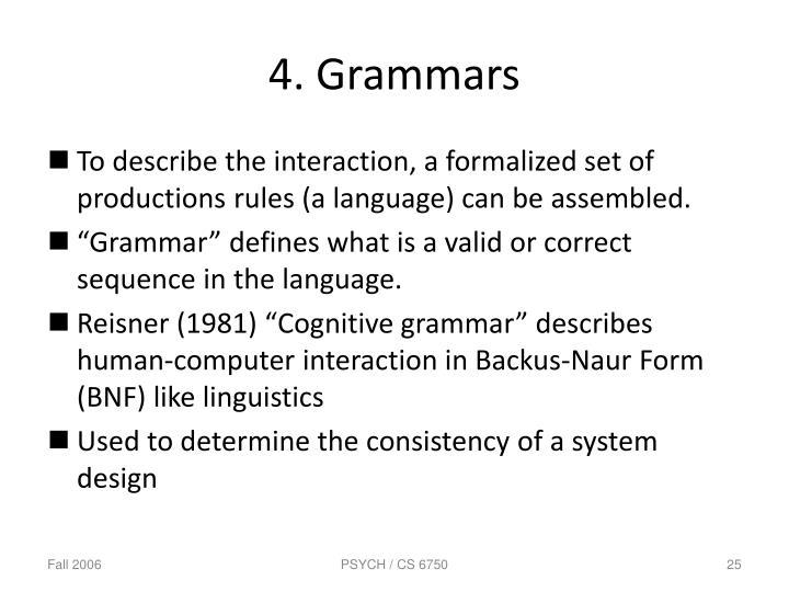 4. Grammars