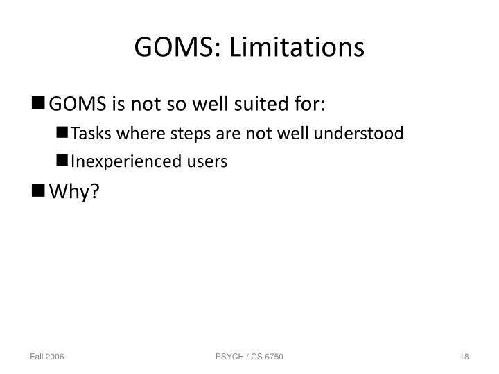 GOMS: Limitations