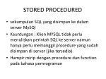 stored procedured1
