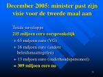 december 2005 minister past zijn visie voor de tweede maal aan3