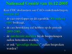nationaal comit van 16 12 2005