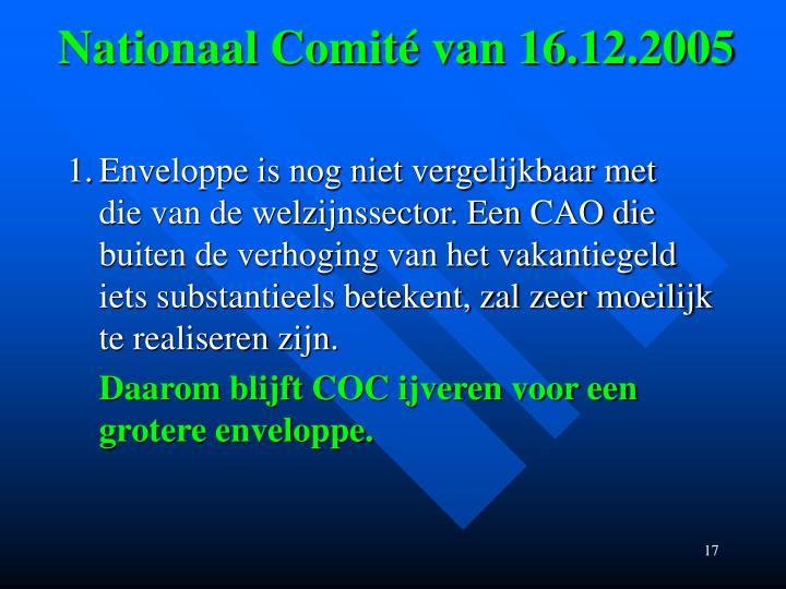 Nationaal Comité van 16.12.2005