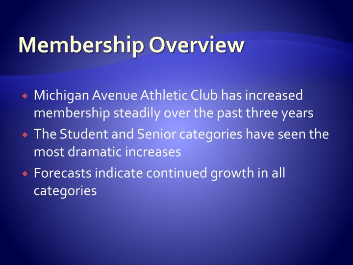 Membership Overview