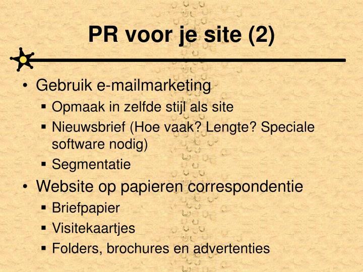 PR voor je site (2)