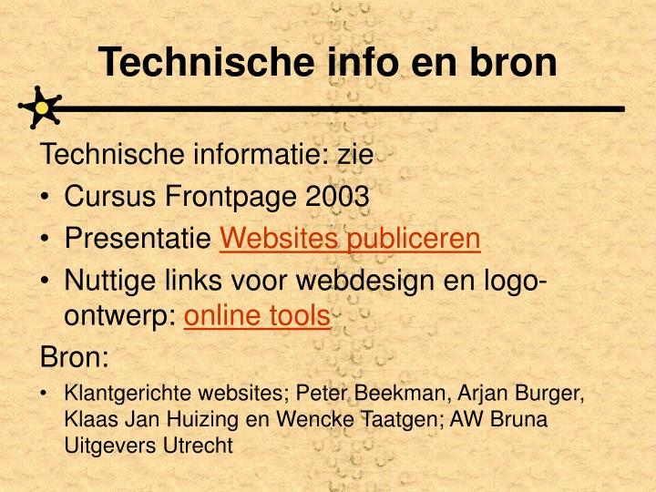 Technische info en bron