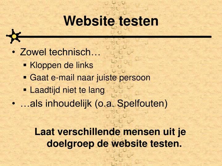 Website testen