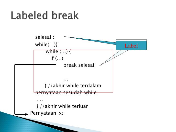 Labeled break