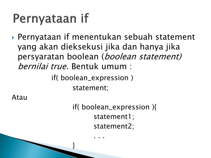 Pernyataan if