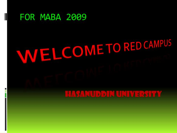 FOR MABA 2009
