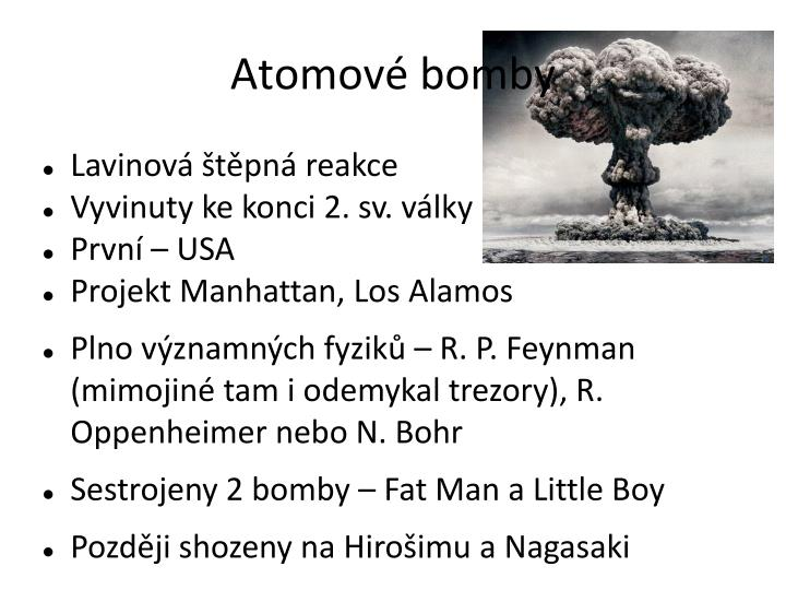 Atomové bomby