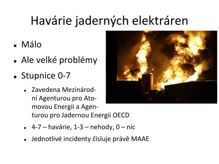 Havárie jaderných elektráren