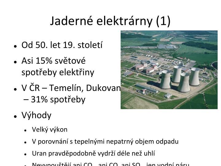 Jaderné elektrárny (1)