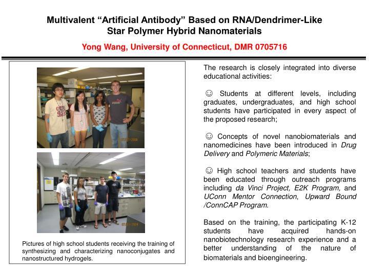 """Multivalent """"Artificial Antibody"""" Based on RNA/Dendrimer-Like"""